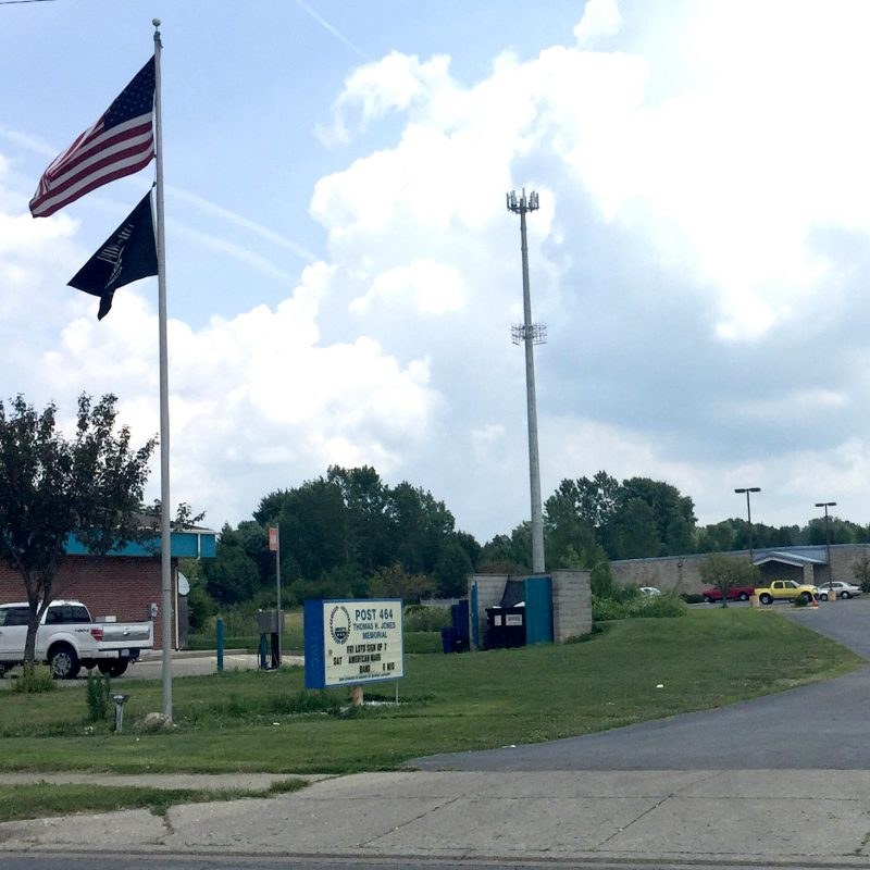 The  Dayton Resource Center is located inside the AMVETS Post 464 in Huber Heights, Ohio. The entrance to the center is on the side of the building.